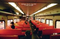 Interior commuter train