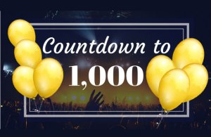 Countdown to 1000-8 to go!
