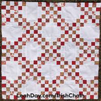 "Illustration of double ""Irish Chain"" quilt."