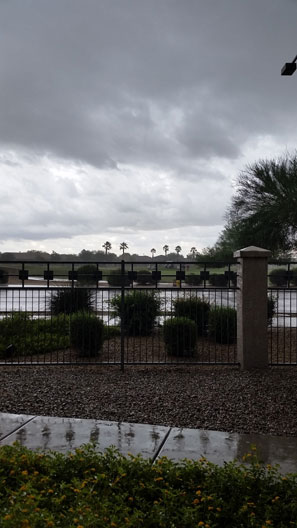 Rain on golf course in Goodyear Az