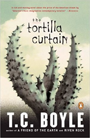 The Tortilla Curtain by T C Boyle - paperback cover