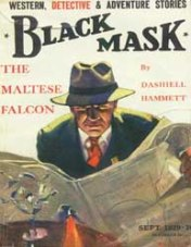 Black Mask Magazine featuring The Maltese Falcon by Dashell Hammett