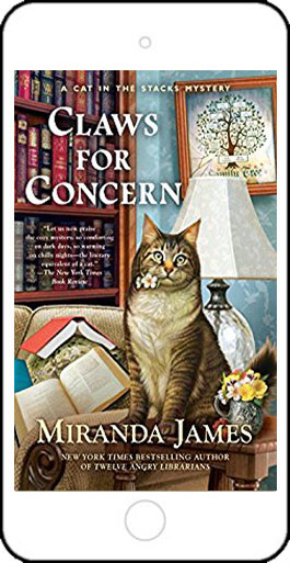 Claws for Concern - a Cat in the Stacks Mystery - by Miranda James