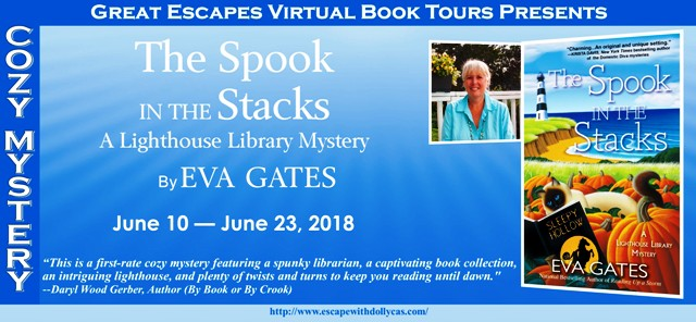 The Spook in the Stacks Lighthouse Library Mystery by Eva Gates