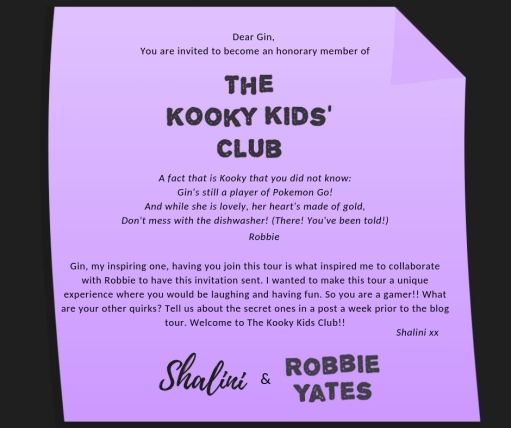My Invitation - The Kooky Kids' Club by Robbie Yates