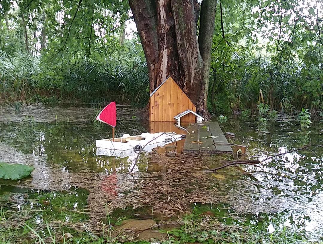 Swamp garden boat