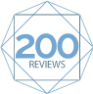NetGalley badge for 200 reviews