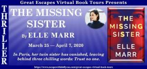 The Missing Sister banner for a blog tour