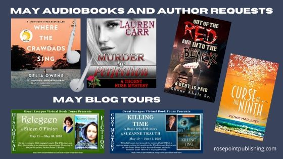 May audiobooks, author requests, and Blog Tours