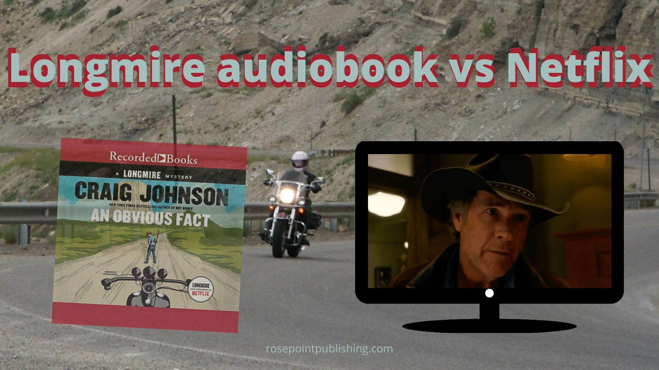 Longmire audiobook vs Netflix blog banner